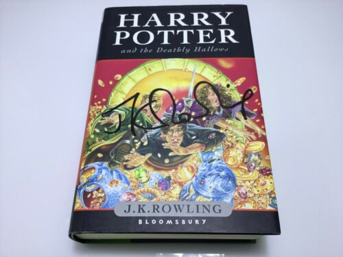 JK Rowling forgery on the cover of a Harry Potter and the Deathly Hallows