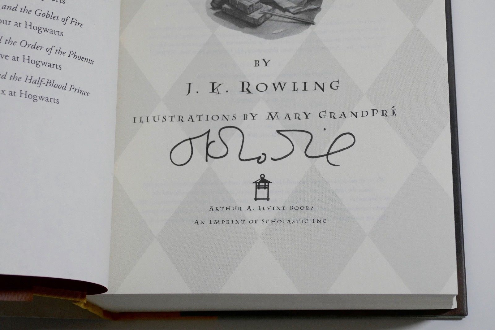 JK Rowling Forgery inside of Harry Potter and the Deathly Hallows