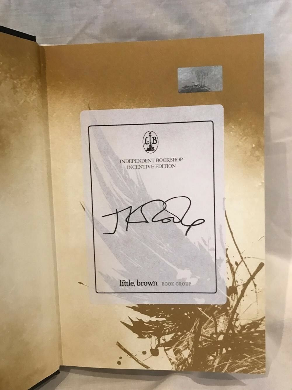 JK Rowling Forgery on a bookplate inside of a Cursed Child