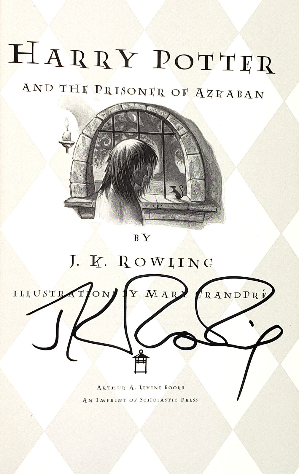 JK Rowling Forgery inside of a US Harry Potter and the Prisoner of Azkaban