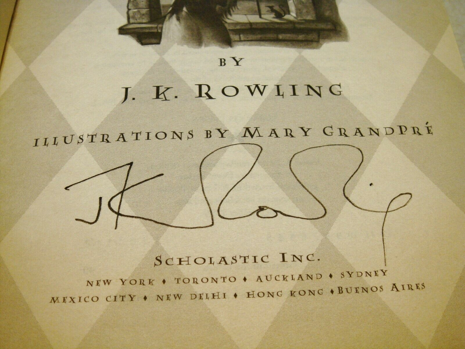 JK Rowling forgery found in a US softcover Harry Potter and the Prisoner of Azkaban