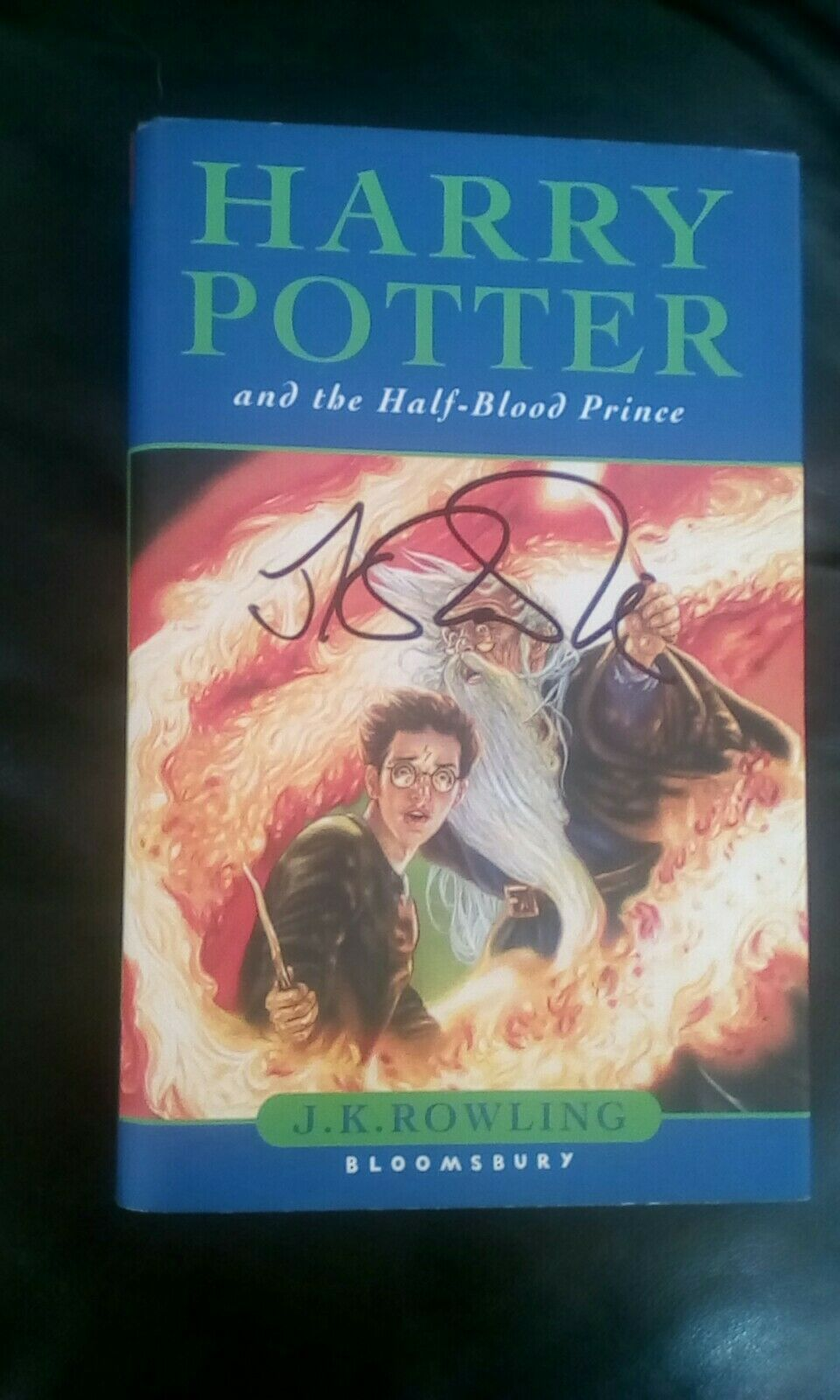 J.K. Rowling Forgery found in a UK Harry Potter and the Half-Blood Prince found on eBay.