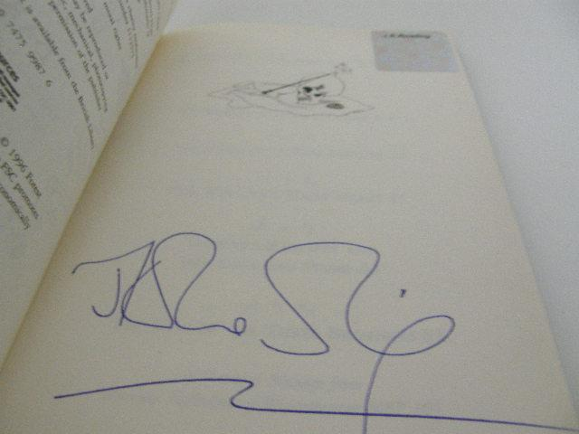 J.K. Rowling signature forgery found on Abebooks inside a Tales of Beedle the Bard. Sold by Quintessential Rare Books