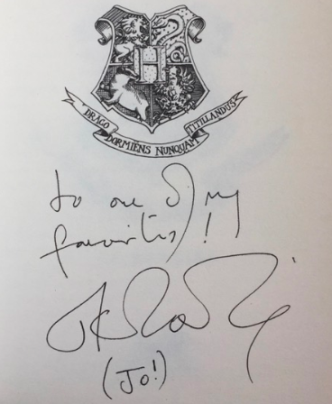 J.K. Rowling signature forgery listed on RareandSigned.com for 6,500 GBP.