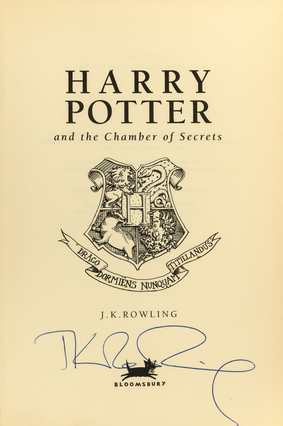 J.K. Rowling signature forgery sold at The SaleRoom auction house for 200GBP.