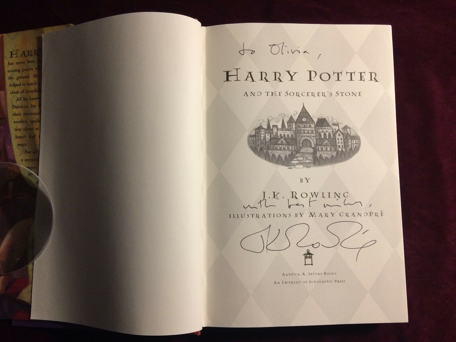J. K. Rowling signature forgery found inside a Harry Potter and the Sorcerer's Stone; found on eBay and sold by quartermain-75