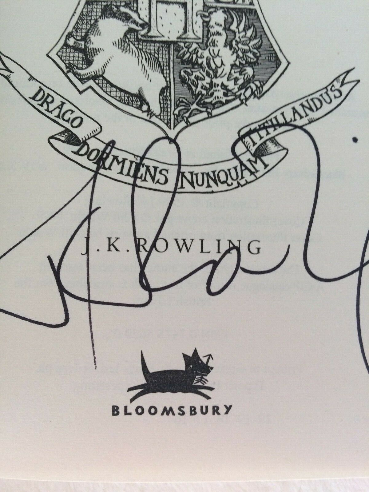 J.K. Rowling signature forgery found inside a UK Harry Potter and the Prisoner of Azkaban on ebay. Sold by DollPainte-0.