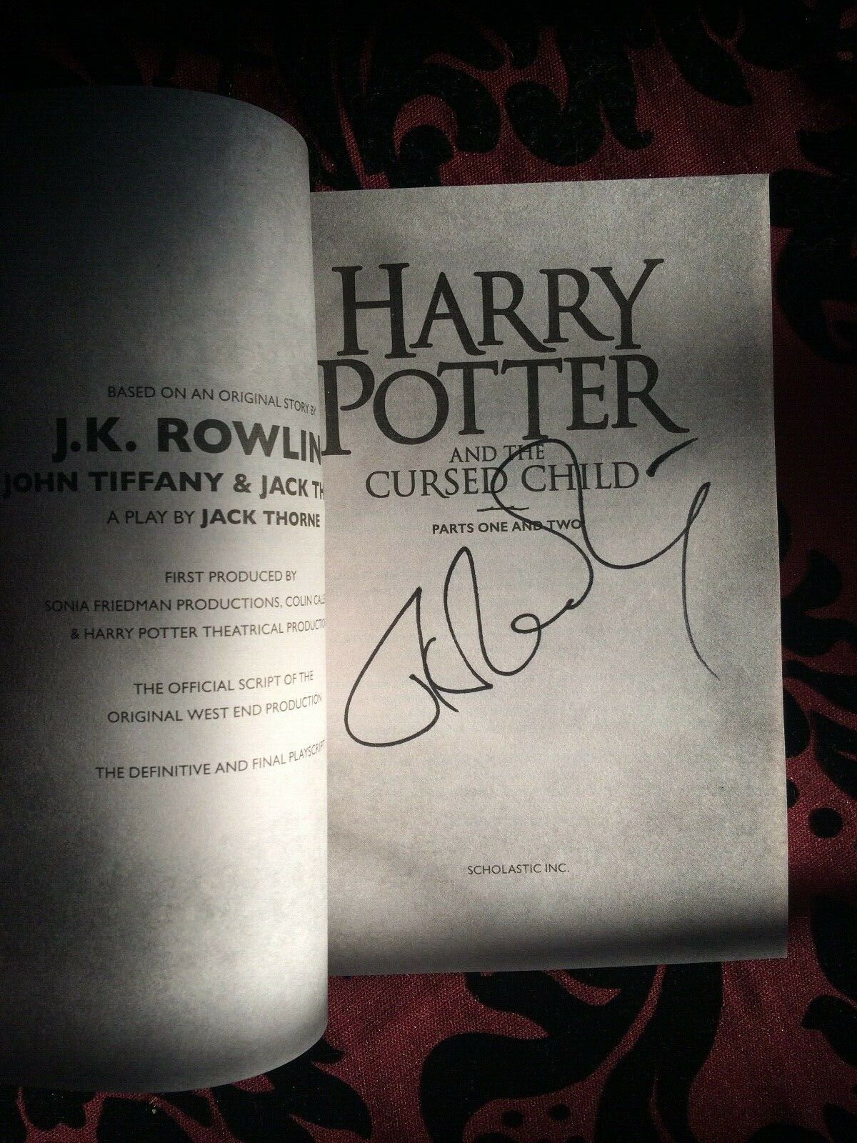 JK Rowling Signature Forgery found on eBay